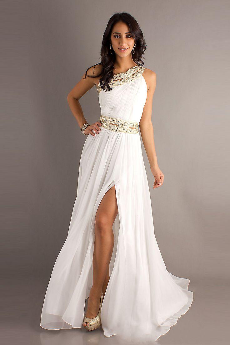 Prom Dresses | Front Split Beading White 2013 Prom Dresses on sale on OnlinePromDress ...