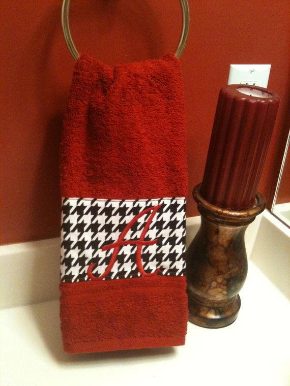 Houndstooth hand towel------Get into the spirit of the Alabama College Football by SEWKIMBURLY, $10.00