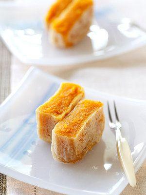 素朴なかぼちゃの甘みと、ほんのり香るシナモンが上品なお茶うけに。|『ELLE a table』はおしゃれで簡単なレシピが満載!