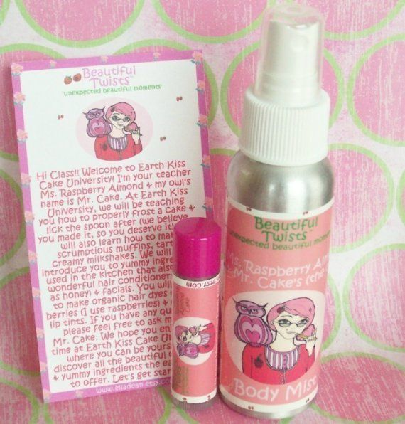 Ms Raspberry Almond and Mr Cakes Body Mist and Lip Conditioner Set ...