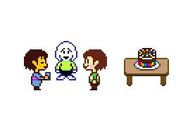 Happy 1 year birthday Undertale << I get that this is late, but I was so hyped on September 15th for Undertale's 1st birthday_!