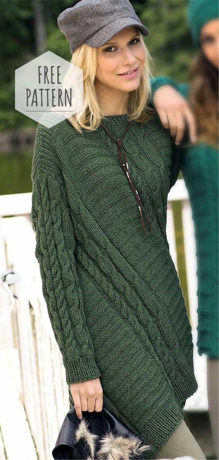 Knitting Tunic Top Free Pattern Knit Shirt Pattern Knit Sweater Dress Pattern Knit Dress Pattern [ 1510 x 720 Pixel ]