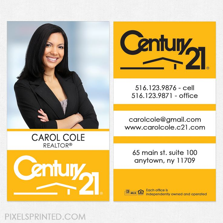 90 best Century 21 business cards and stationery. images on Pinterest