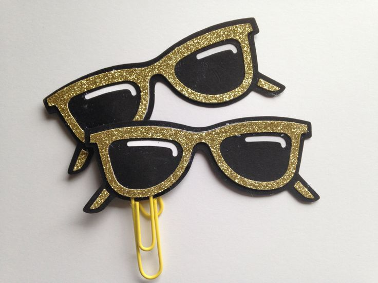 Sunglasses Planner Clip | Sunnies Clip | Planner Clip | Glasses Planner Clip by CleverDesignCharms on Etsy