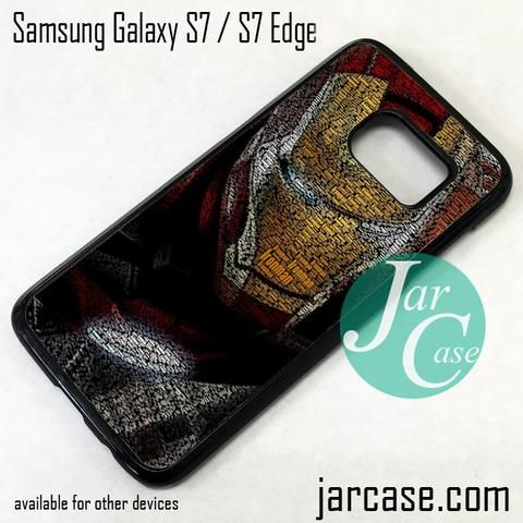 Typography Ironman Phone Case for Samsung Galaxy S7 & S7 Edge