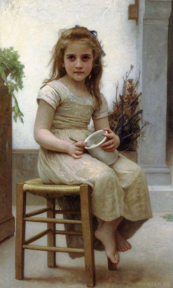 "William Adolphe Bouguereau (William Bouguereau) (1825-1905)  Le Goûter  Oil on canvas  1895  70 x 115.5 cm  (27.56"" x 3' 9.47"")  Private collection"