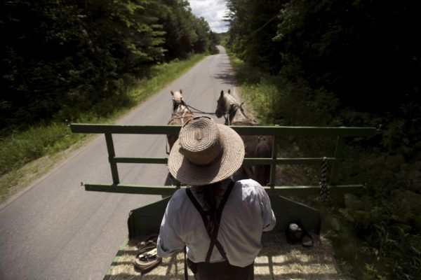 In Maine, he intended to become a member of the Amish church. Instead, he started a journey away from religion.