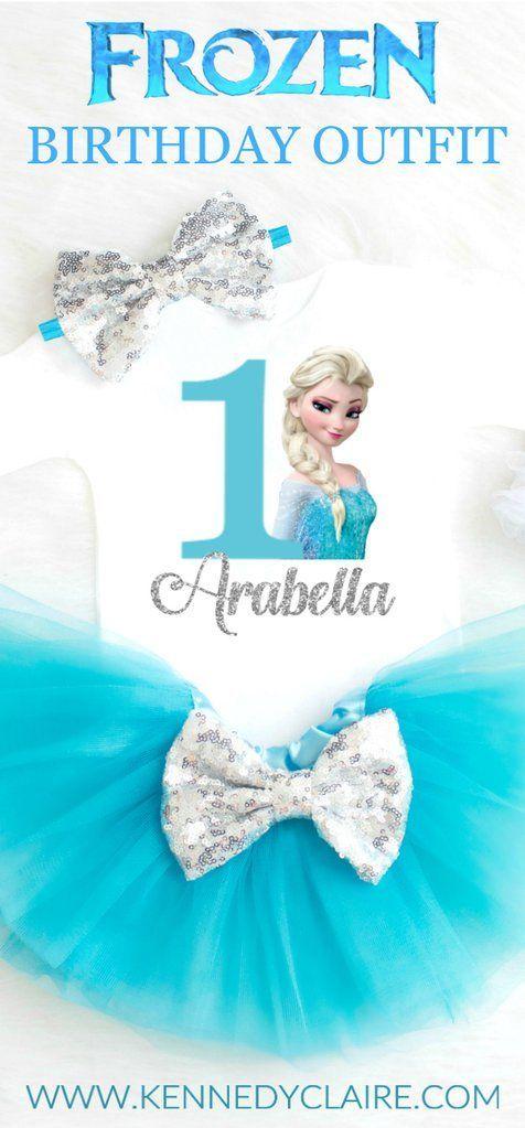 Frozen Princess Elsa Birthday Outfit Frozen Birthday Party Outfit First Birthday Outfit Baby Girl 1st Birthday Outfit Elsa Anna Frozen Birthday Party Ideas