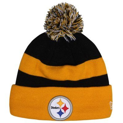 Mens Pittsburgh Steelers New Era Gold Sideline Sport Knit Hat