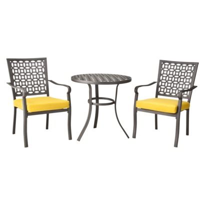 Patio Set - love!:  Boards, Patio Bistros, Dining Table, Hawthorne 3 Pc, Patio Furniture, Patio Sets, Metals Patio, Bistros Sets, Front Porches