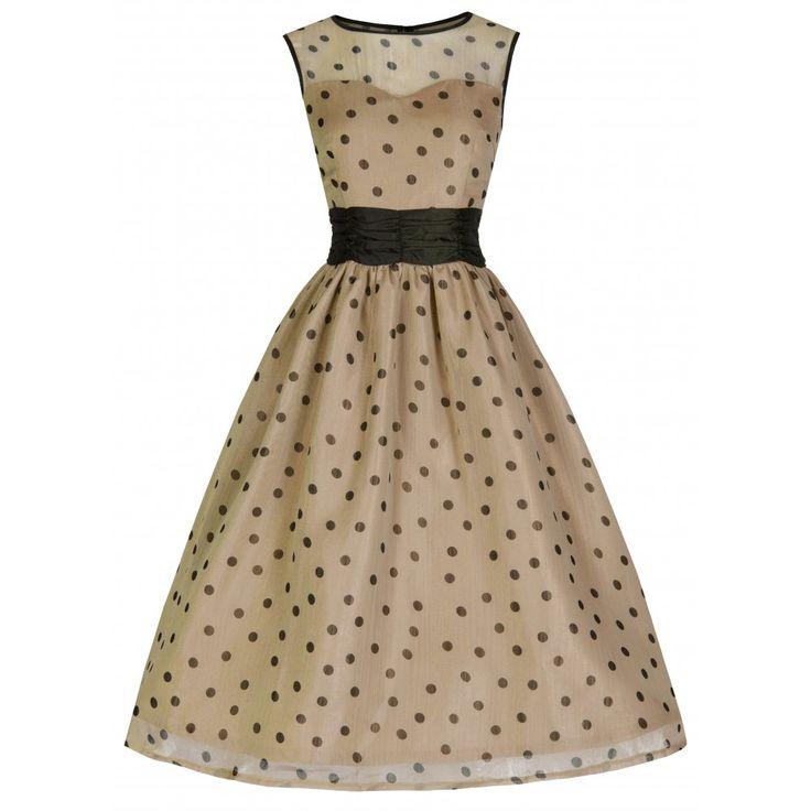 Cindy Mocha Polka Swing Dress | Vintage Inspired Fashion - Lindy Bop