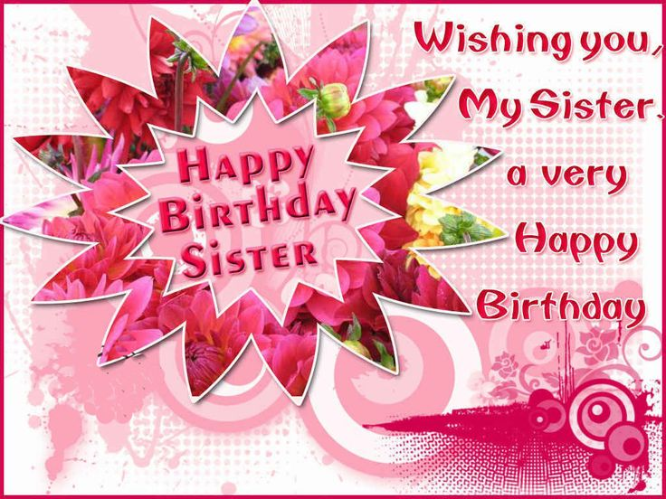 17 Best images about BIRTHDAYS – Happy Birthday Sis Cards