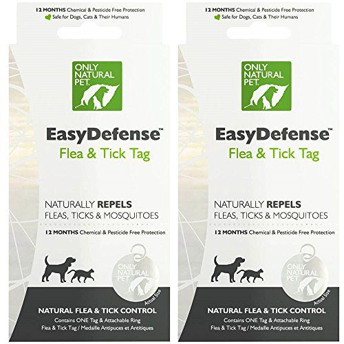 Only Natural Pet Easydefense Flea And Tick Control Collar Tag For Dogs And Cats Natural Active Ingredients For Preventi Natural Pet Tick Control Flea And Tick