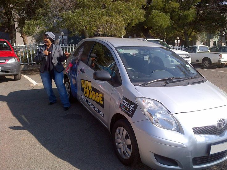Tshepi is super stoked and excited about the Cell C SupaCharge campaign, with Brandyourcar.com!