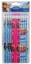 Frozen - Anna, Elsa Sky-blue/Pink/Blue-gray Wooden Pencils (12 pcs)