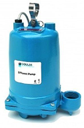 """New Year 2017"" GOULDS PUMPS WE2012H Submersible Effluent Pump, 2 hp, 230V, Blue"