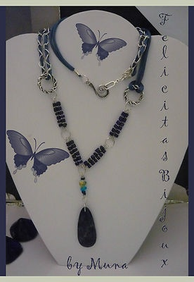 Necklace. Blue version Ethnic - tribal ...    mix and trends for the fashion of the moment ...