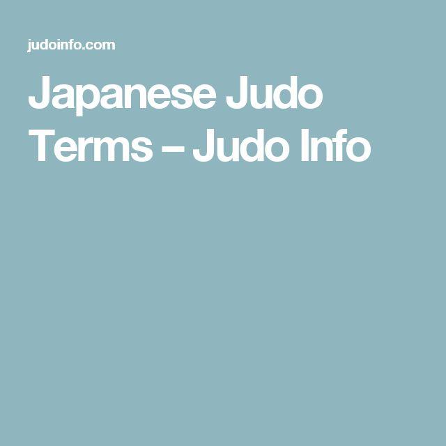 Japanese Judo Terms – Judo Info
