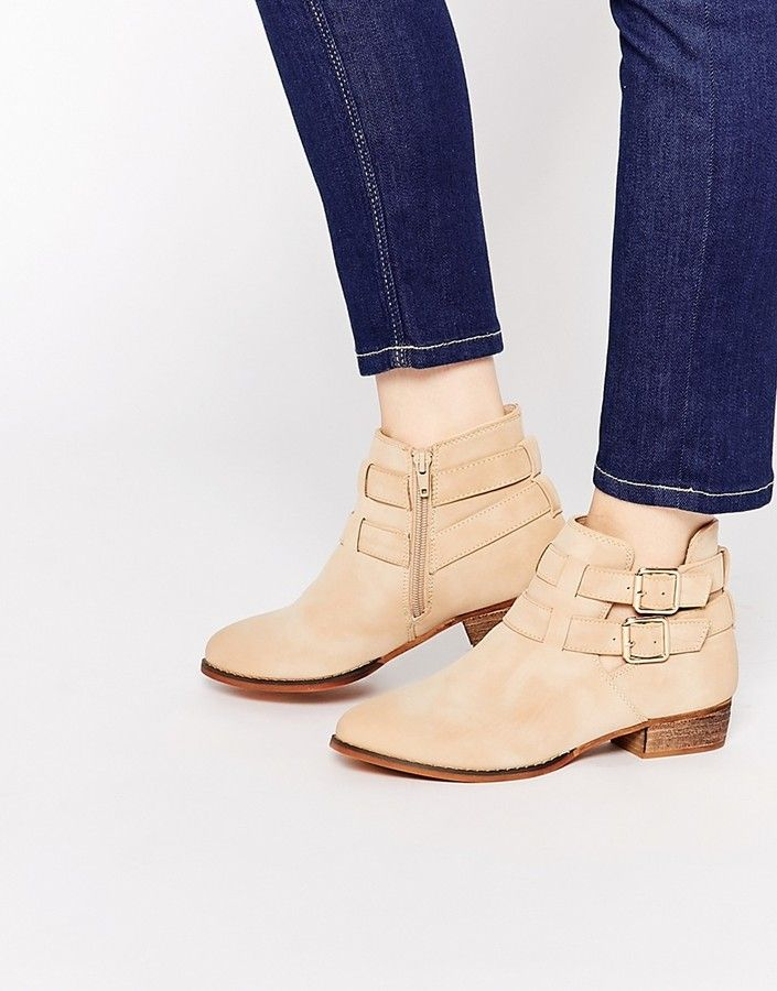Call It Spring Yenalian Double Strap Western Ankle Boot