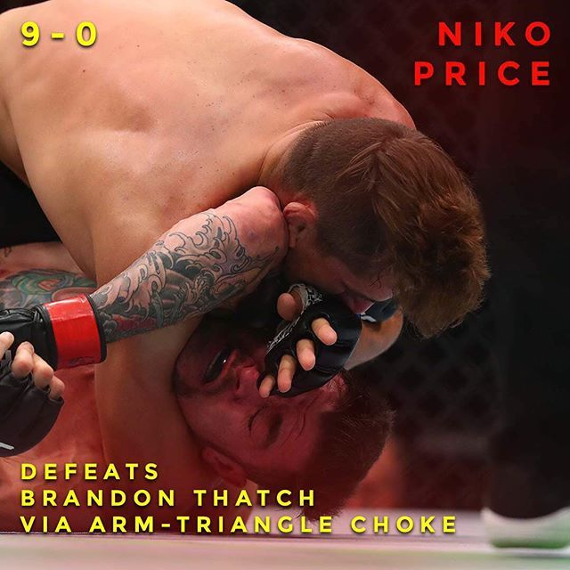 Welcome to the UFC Niko Price. 1st round submission and moves on up to 9-0. What did you think of Price's performance? : Mark J. Rebilas of USA TODAY #UFC207 #ufc #mma #fighting #infographic #tmobilearena #lasvegas #bjj #rondarousey #grappling #judo #octagon