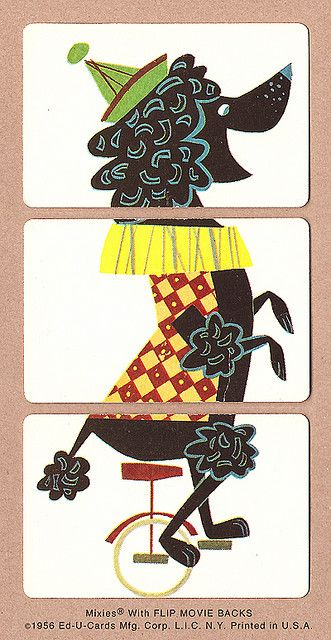 Poodle | 1956 Mixies® by Ed-U-Cards They really are clowns especially A Standard Poodle.