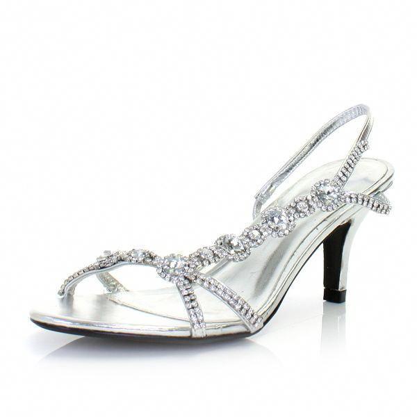 Silver Kitten Heel Bridesmaid Shoes