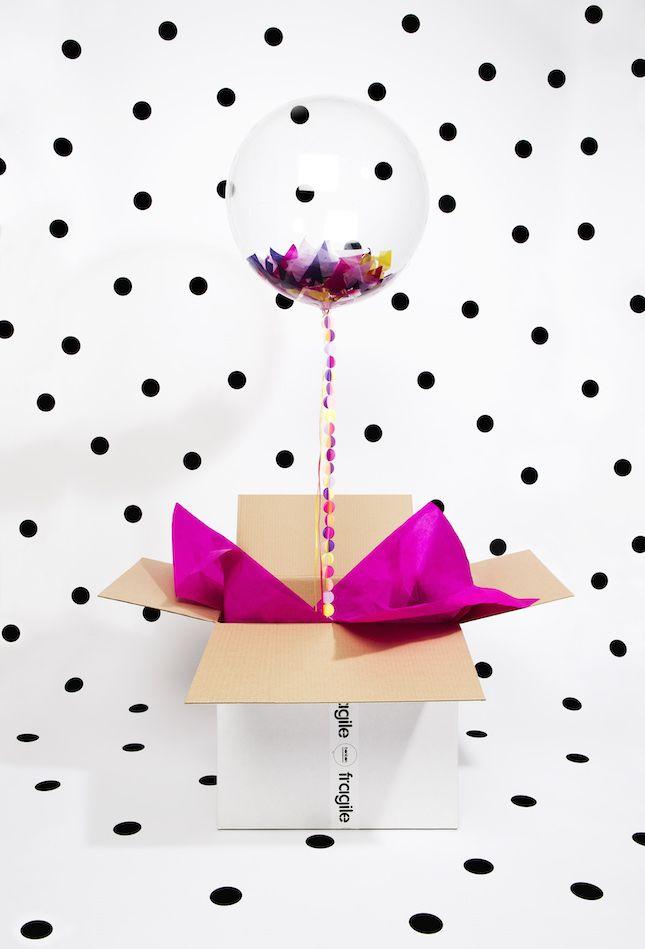 Send a balloon-gram in the mail.