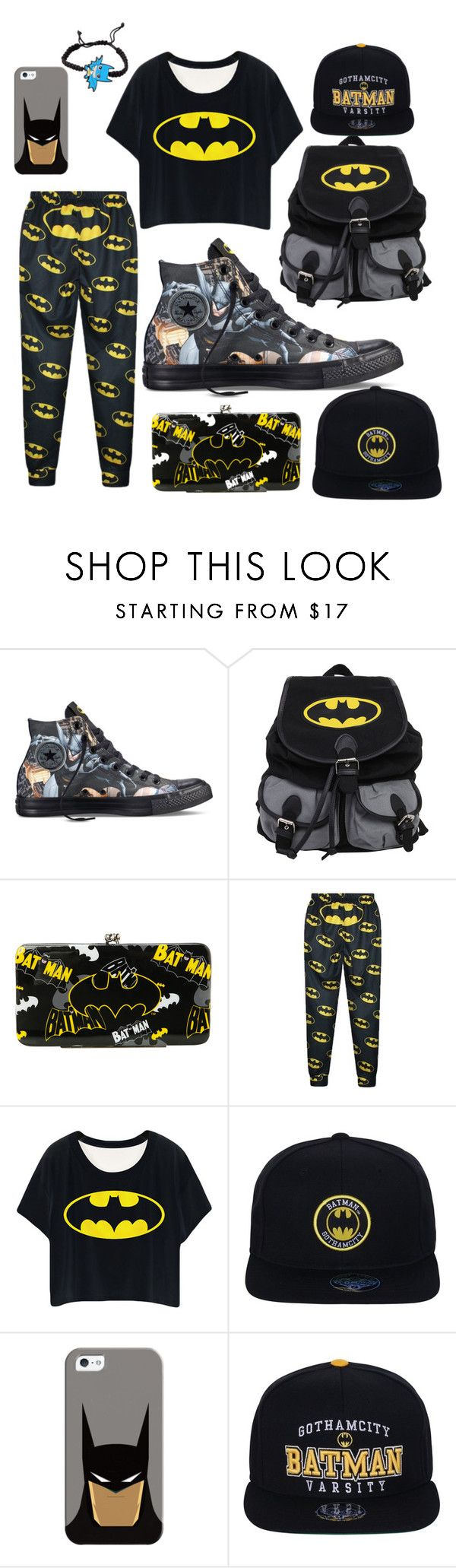 """""""Bat Man"""" by chiara-calcagno ❤ liked on Polyvore featuring Converse and Casetify"""