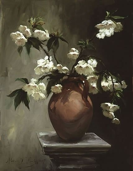 treselise: Nicola Jane Philipps (English; 1964) ~Cherry Blossom; via fineartcommissions.com