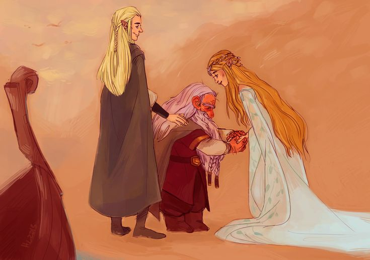 Welcome Gimli, son of Gloin, to Valinor. Gimli and Legolas' friendship is something of an inspiration, as is Gimli's adoration for Galadriel! I was really happy that he was reunited with her, and travelled the sea with Legolas to Valinor.