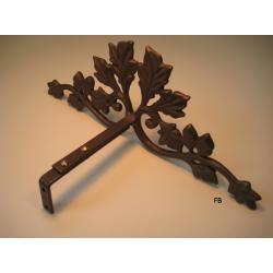 oak leaf scroll 12inch drapery crown