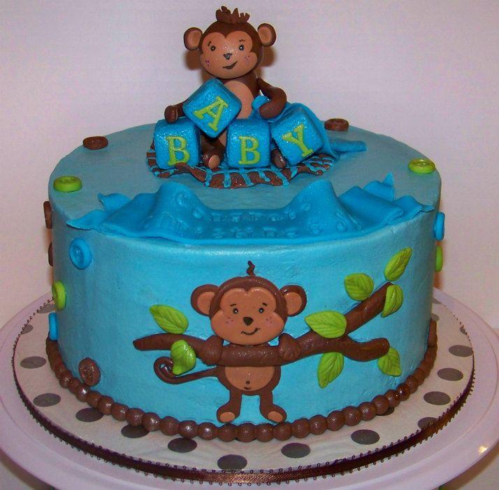 Monkey cake for baby shower monkey baby shower by cris711 cake decorating - Monkey baby shower cakes for boys ...