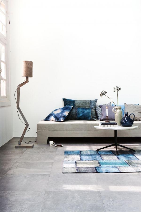 VT Wonen tegelcollectie Loft Silver #tegels #vloeren #woonkamer