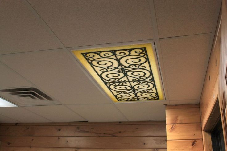 Custom Fit Decorative Flourescent Light Covers Panels Diffuser Wrought Iron Goldeneagledeco