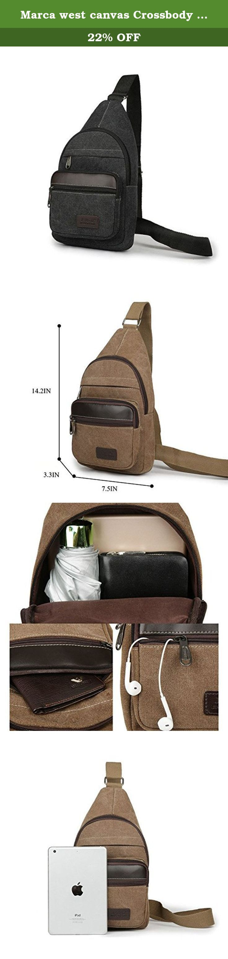 Marca west canvas Crossbody Shoulder Bag Chest Bag Sling Bag Hiking Bicycle Bag. Color:army green,khaki,blue,brown,black. Feedback: Your satisfaction and positive feedback is very important to us. Please leave positive feedback and 5 stars if you are satisfied with our items and services. Service: If you have any problems with our items or services, please feel free to contact us first before you leave negative feedback. We will do our best to solve any problem and provide you with the…