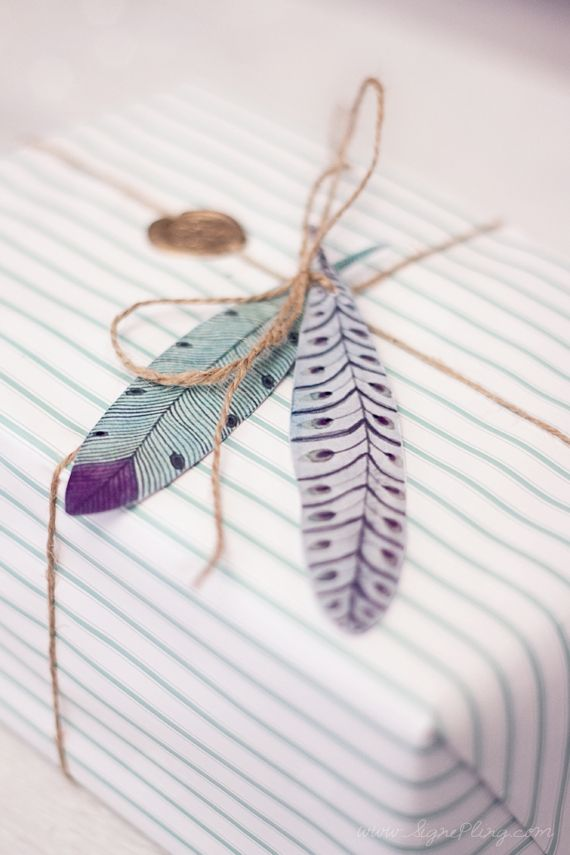 stripes, twine & feathers
