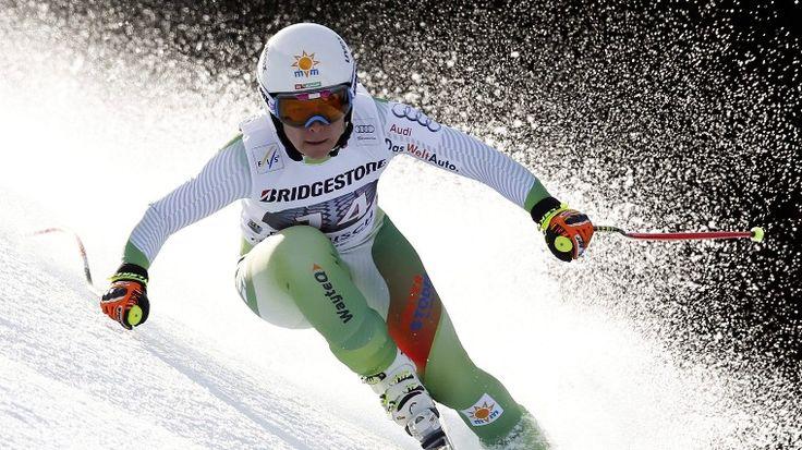 Miklós Edit a női alpesi sízők világkupa-sorozatának garmisch-partenkircheni lesiklóversenyében. - fotó: MTI/AP/Marco Trovati