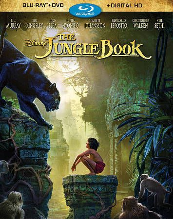 The Jungle Book ( Blu-ray + DVD, 2016, Includes Digital Copy UV w/ slipcover )
