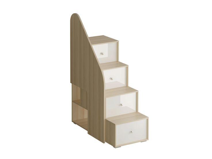 Лестница с ограждением состоит из четырёх ступенек. Под ступеньками имеются отделения для хранения. С боку лестницы есть две открытые полки. Лестницу с ограждением можно устанавливать и слева и справа от кровати. #jewelry, #women, #men, #hats, #watches, #belts, #fashion