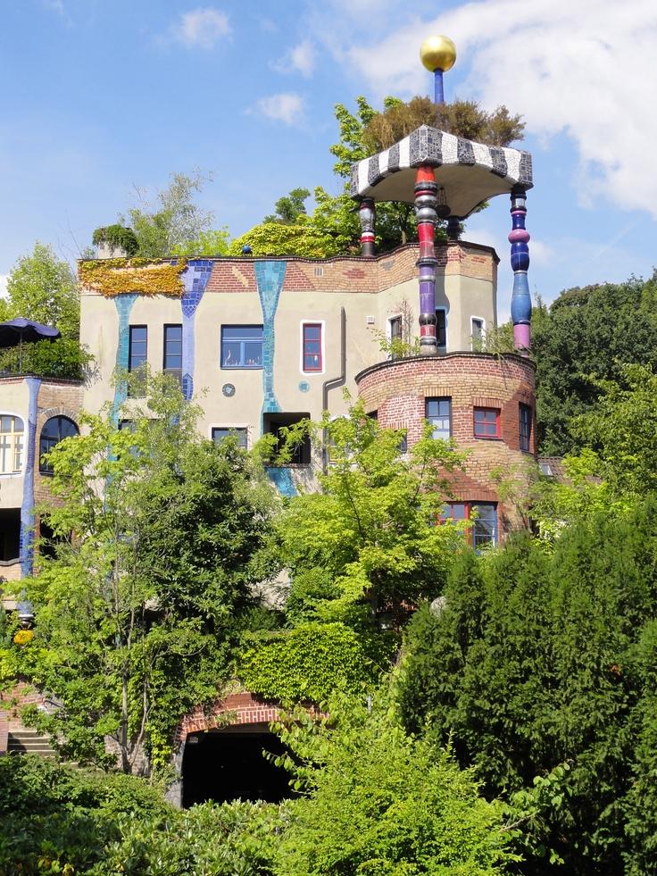 Wohnen in der Wiesen. Bad Soden, Germany. Architect: Hundertwasser.