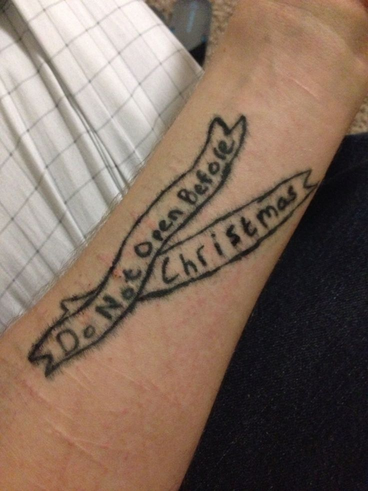 This tattoo of Fall Out Boy lyrics might remind me not to ...