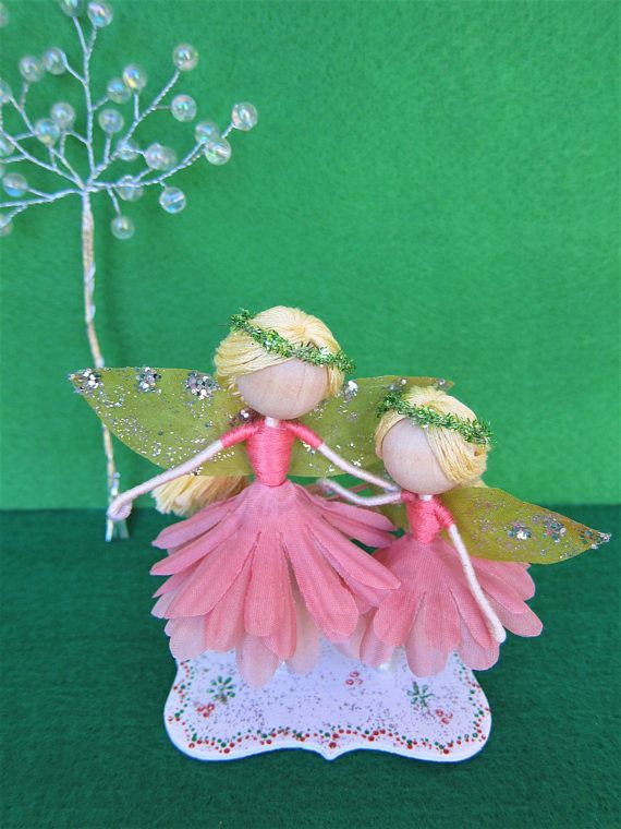 Mom and daughter flower fairy dolls Mother day gift Birthday