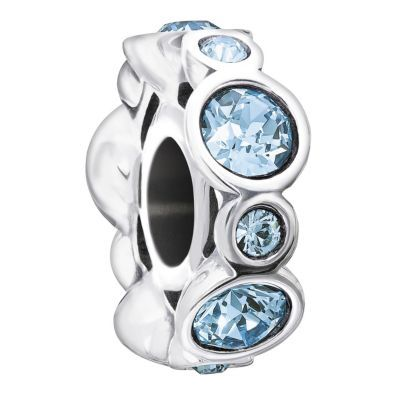 Chamilia Sterling Silver Crystal March Birthstone Bead- H. Samuel the Jeweller - my birthstone