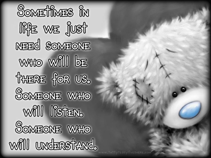 """♡ """"Sometimes in life we just need someone who will be there for us. Someone who…"""