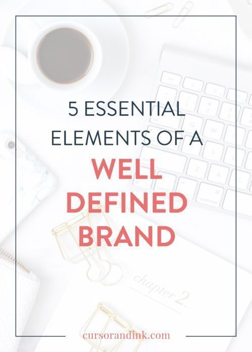 5 essential elements of a well-defined brand — Cursor & Ink