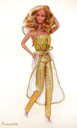 Barbie Golden Dream 1980 |my 2nd barbie doll... I loved her hair, however she was quick to get bed hair as she had thin copper wire to represent golden hair...