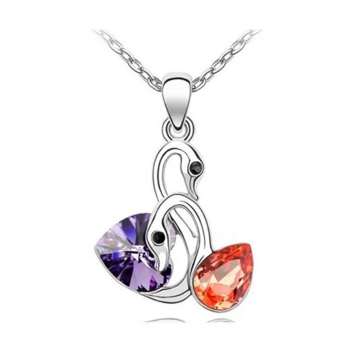 Temukan dan dapatkan Kalung Swarovski Crystal Elements Colorful Swans hanya Rp 225.000 di Shopee sekarang juga!…