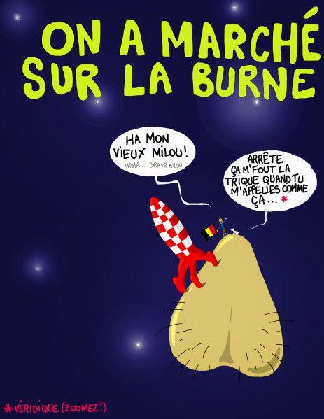 Les Aventures de Tintin - Album Imaginaire - On a Marché sur la Burne