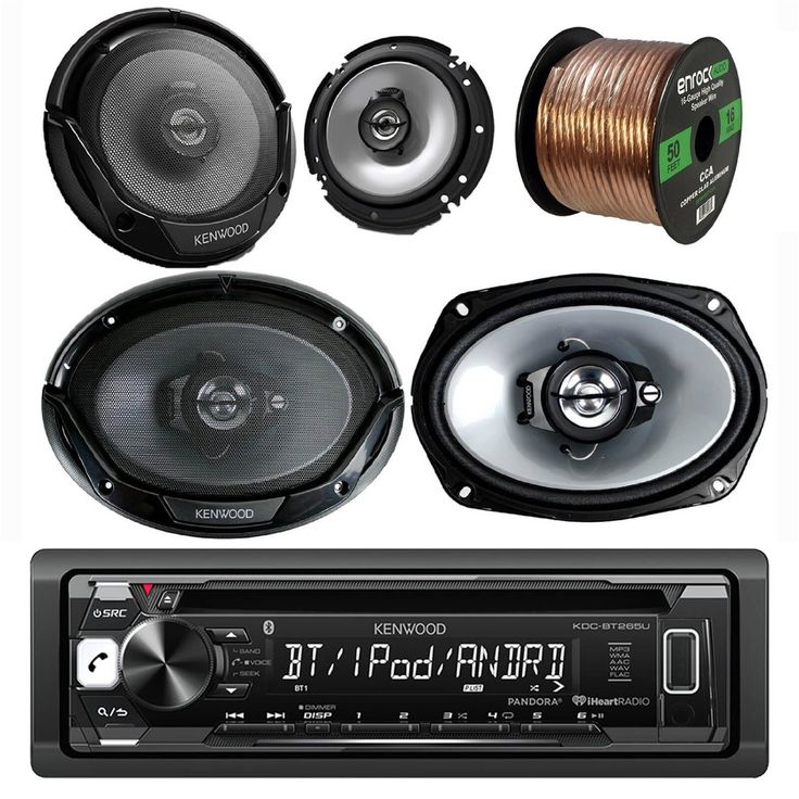 Kenwood Car CD MP3 Receiver with Bluetooth AM/FM Radio Player Bundle 2 6x9 Speakers, 2 6.5 Inch Speakers, Enrock 50 Ft 16g Speaker Wire (Built in Amp). 2 X Kenwood KFC-6965S 400 Watts 6 x 9 3-Way Coaxial Car Audio Speakers. 2 X Kenwood KFC-1665S 6.5 600 Watt 2-Way Car Audio Coaxial Speakers Stereo. Speaker Wire 18GA CLEAR 50FT. Stereo: built-in MOSFET amplifier (22 watts RMS/50 peak x 4 channels), plays CDs, CD-Rs, and CD-RW discs including discs loaded with MP3, AAC, and WMA music files...