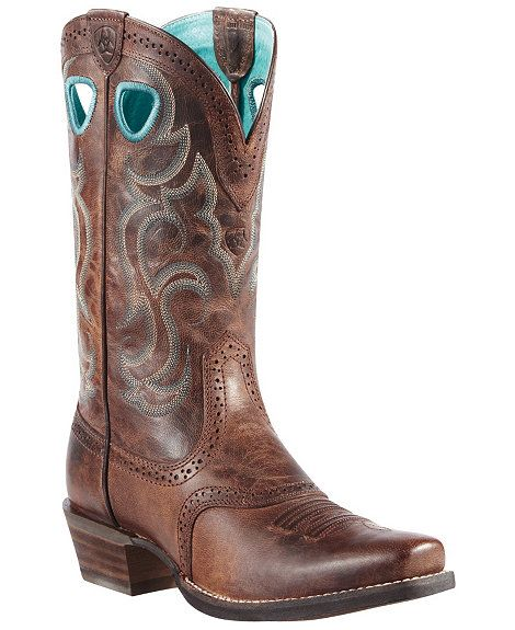 Ariat Rawhide Cowgirl Boots - Square Toe